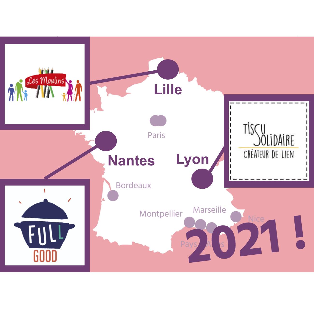 Des Etoiles et des Femmes à Lille, Lyon et Nantes en 2021 !